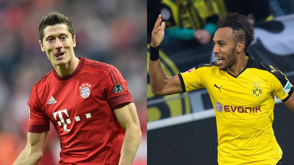 aubameyang vs lewandowski