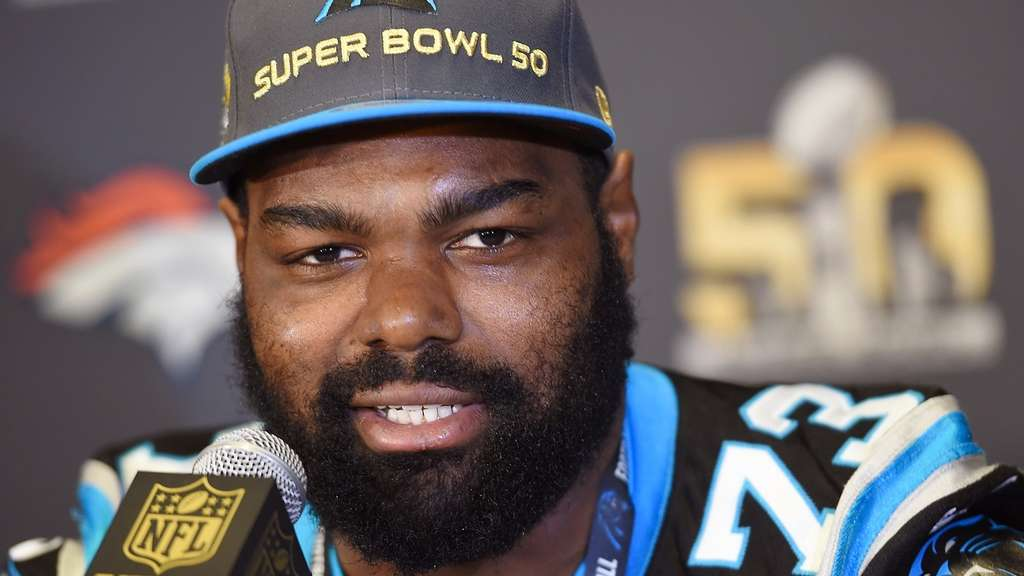 Michael Oher von den Carolina Panthers