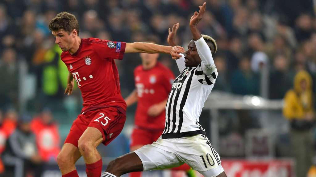 Thomas Müller, Paul Pogba, FC Bayern München, Juventus Turin, Champions League