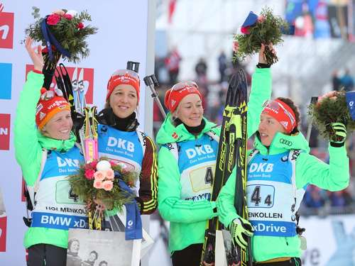 Biathlon-Damen holen WM-Bronze in Oslo