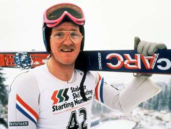 """Eddie the Eagle"" als Aktiver."
