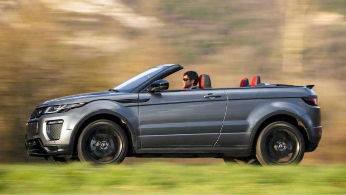 range rover evoque cabrio pfadfinder in sommerlaune auto. Black Bedroom Furniture Sets. Home Design Ideas
