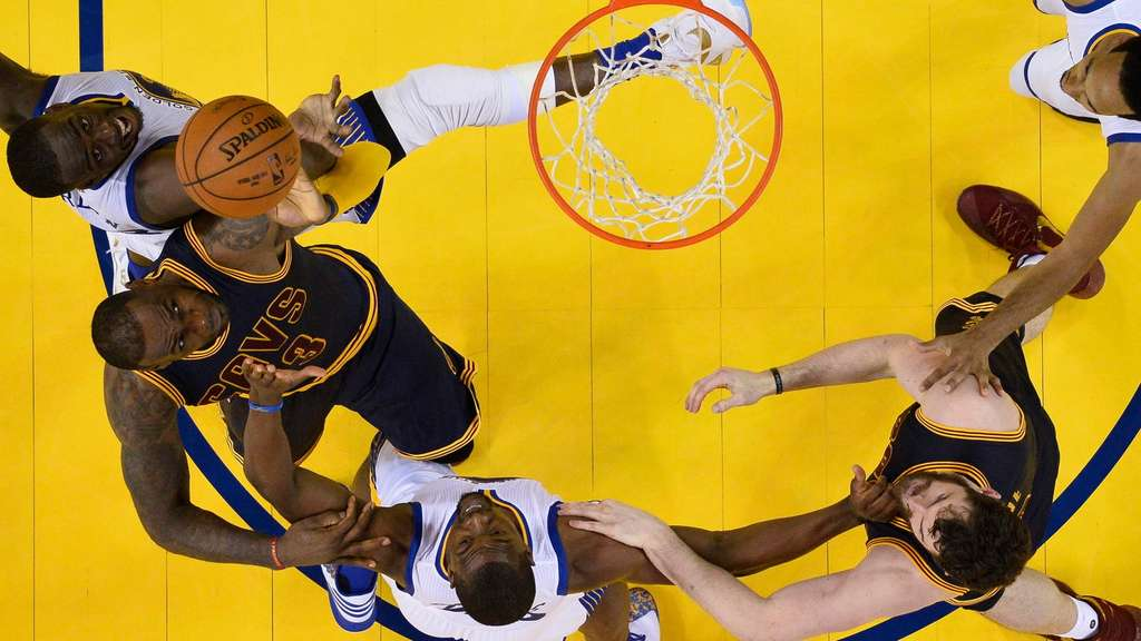 Cleveland Cavaliers gegen Golden State Warriors.