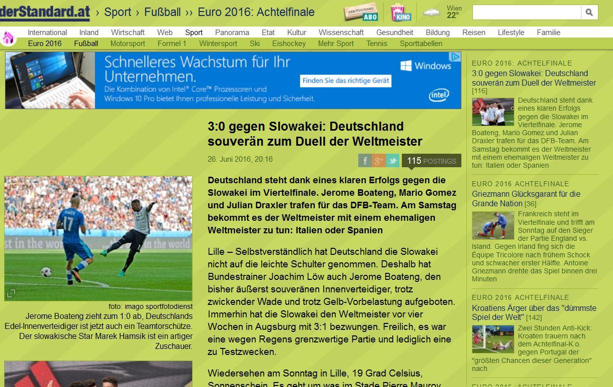 Em 2016 Tv Kritik Zur Zdf übertragung Deutschland Slowakei