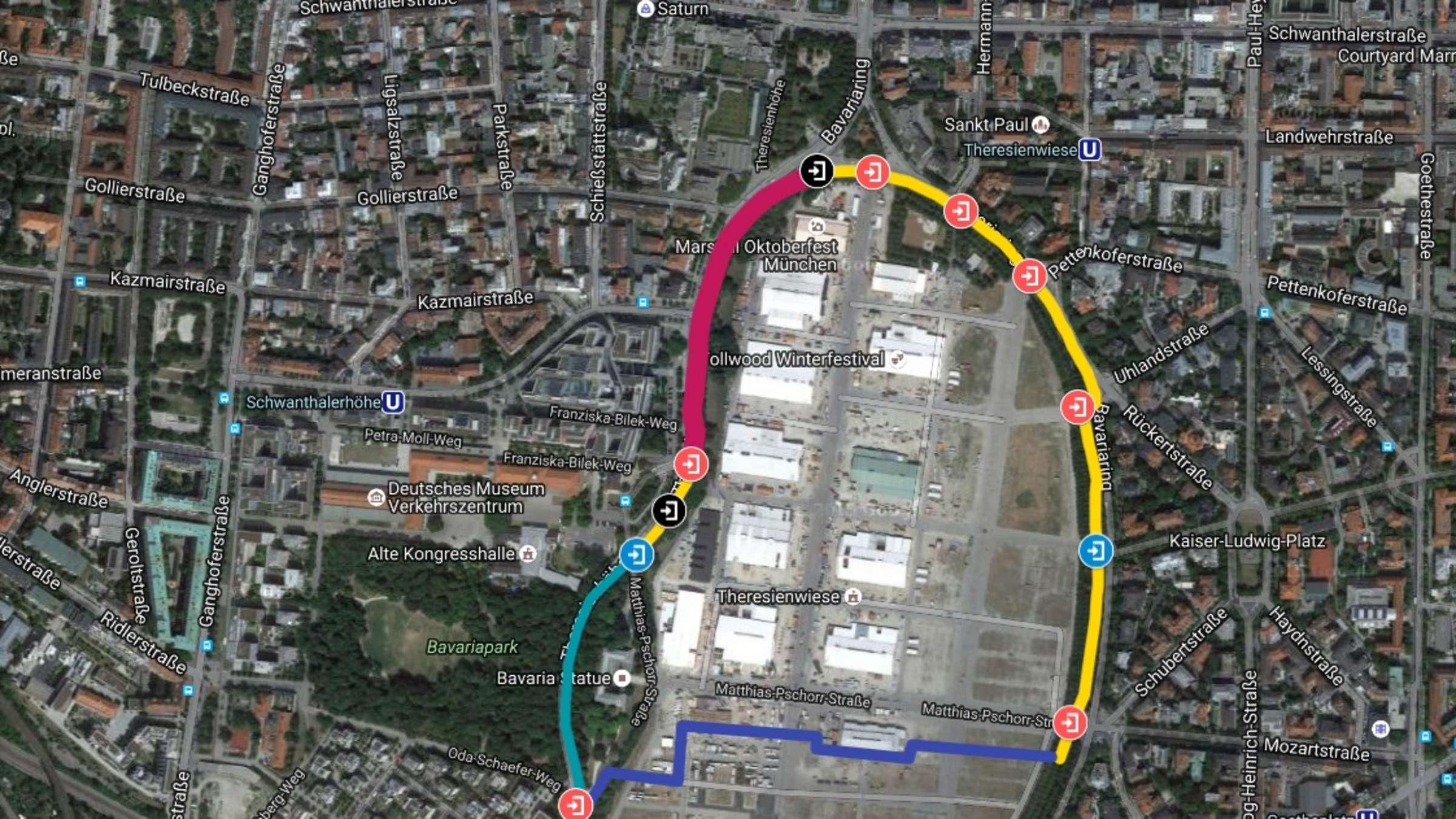 Oktoberfest 2016 Interaktive Karte Wir Erklaren Den Wiesn Zaun