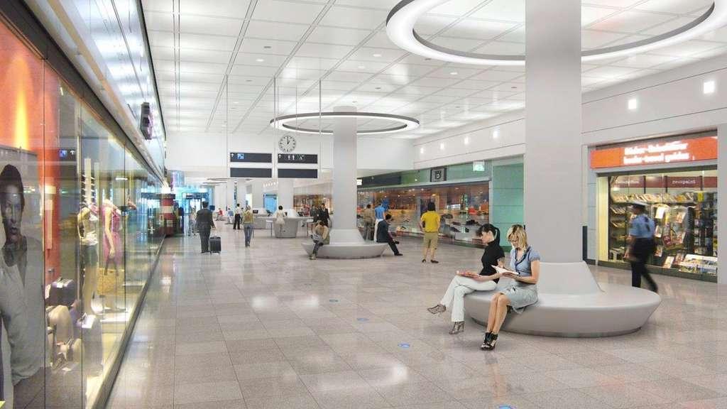 flughafen m nchen terminal wird moderner region. Black Bedroom Furniture Sets. Home Design Ideas