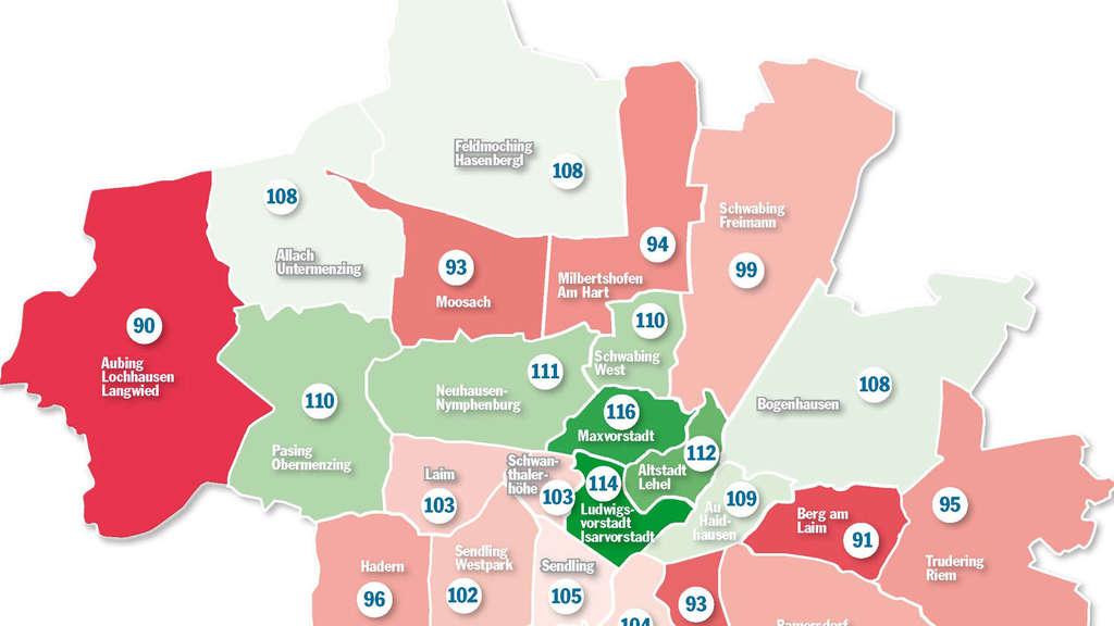Karte München Stadtteile.Iq Atlas Verrät In Diesem Münchner Stadtteil Leben Die Schlausten