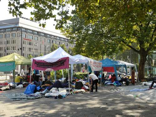 CSU: Protest-Camp am Sendlinger Tor will Eskalation