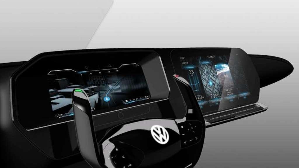 Auto cockpit straße  VW zeigt Cockpit mit 3D-Grafik und Blicksteuerung | Auto