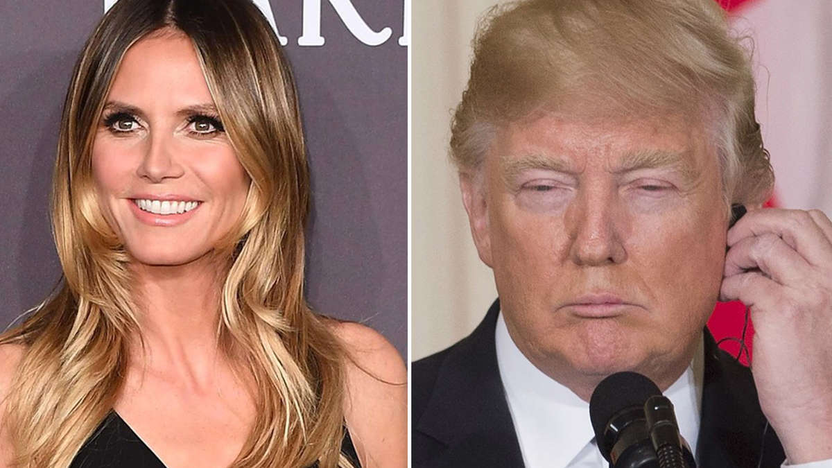 wegen gntm bekommt heidi klum rger mit donald trump tv. Black Bedroom Furniture Sets. Home Design Ideas