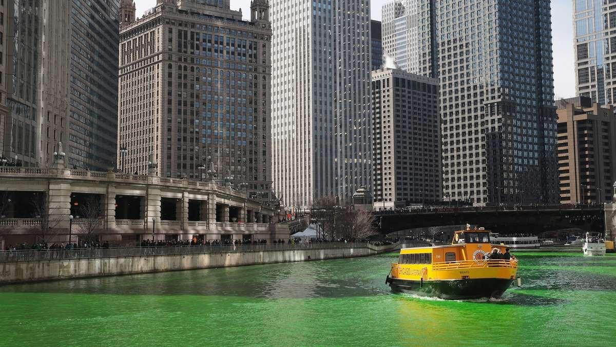 chicago river grün