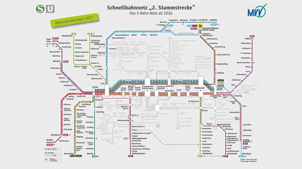 S Bahn Karte München.Baustart Für 2 S Bahn Stammstrecke Alle Infos Auf Einen Blick Stadt