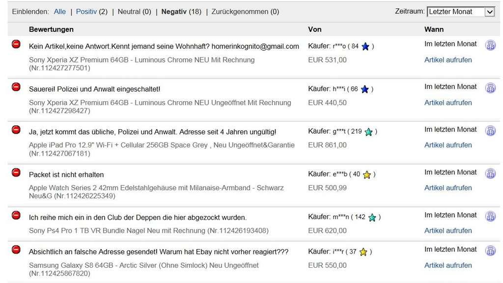 Abzocke Bei Ebay Kunden Um Fast 40 000 Euro Gebracht Munchen