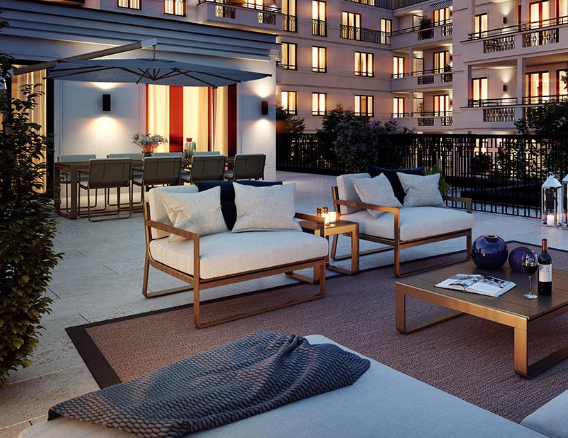 elegant und exklusiv haus friedrich in m nchen schwabing wohnen. Black Bedroom Furniture Sets. Home Design Ideas