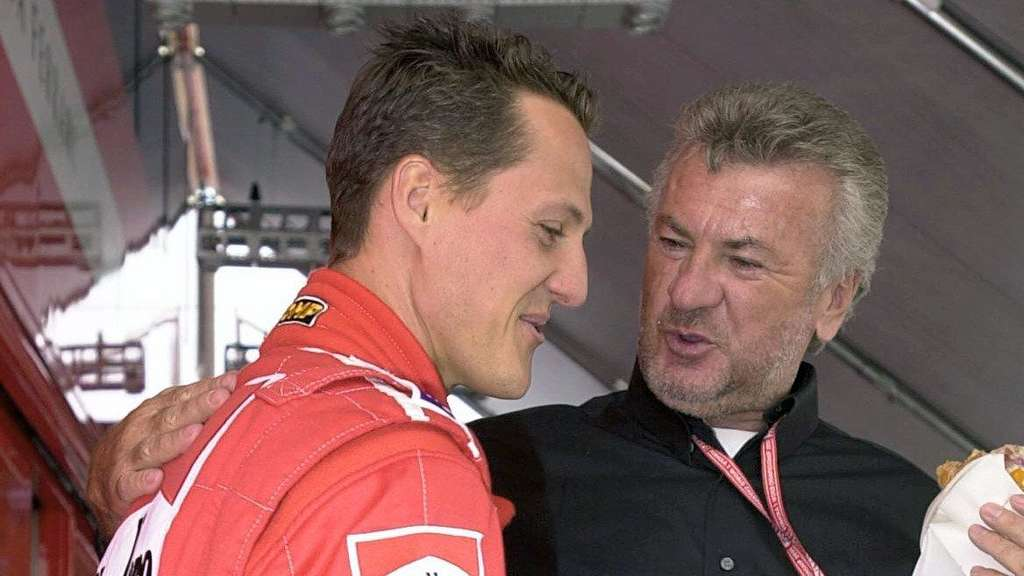 Willi Weber (r.) 2001 mit Michael Schumacher