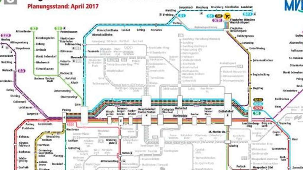 S Bahn Karte München.S Bahn Netz Wird Extrem Ausgebaut Die Vor Und Nachteile München