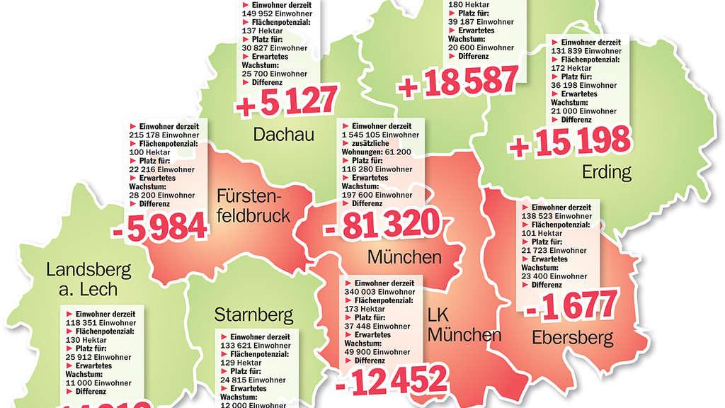 Karte Oberbayern Landkreise.Flachen Fur 320 000 Menschen Wo In Der Region Neuer Platz
