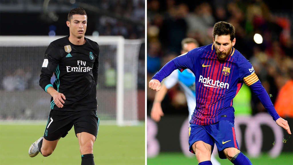 Die Superstars ihrer Teams: Cristiano Ronaldo (Real Madrid) und Lionel Messi (FC Barcelona).