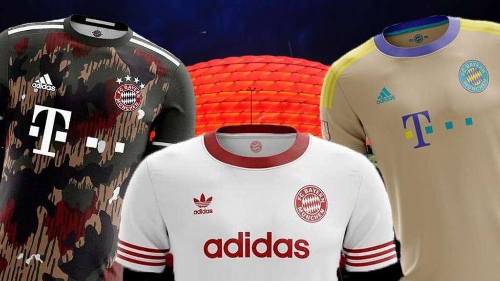 best loved 46c57 4e642 FC Bayern Trikots: So verrückt könnten die neuen Outfits ...