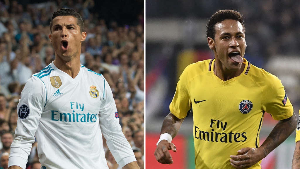 Cristiano Ronaldo (Real Madrid) und Neymar (Paris Saint-Germain).
