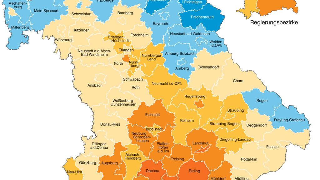 Mittelfranken Karte.Bayern In Welche Landkreisen Die Zuagroasten Hinziehen Bayern