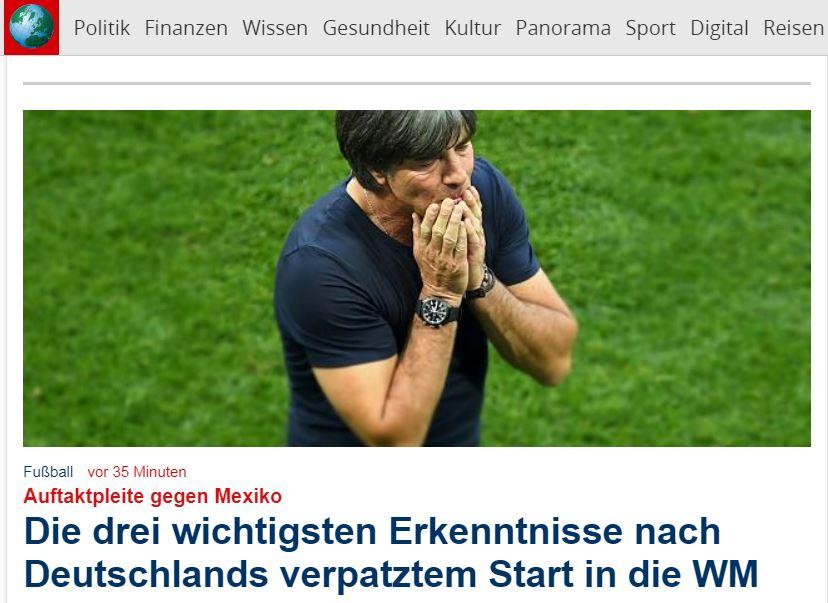 56bb5564a9b65 Niederlage bei WM 2018  Deutschland gegen Mexiko im Live-Ticker ...