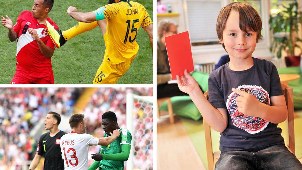 Rote Karte Wm 2018.Schlimmer Als Im Kindergarten Nachwuchs Bringt Wm Stars Manieren