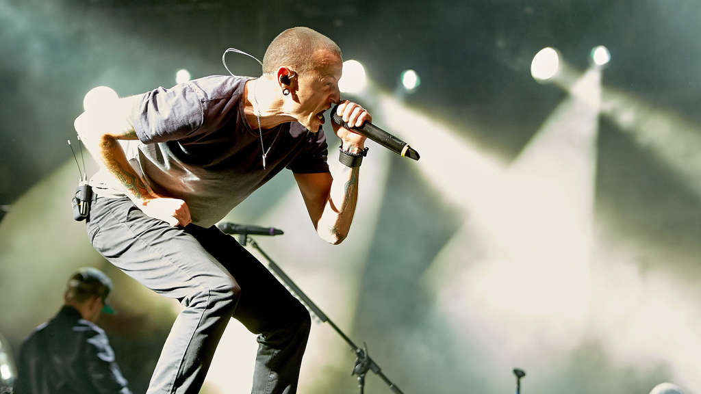 "Chester Bennington beim Rockfestival ""Rock am Ring"" 2014."