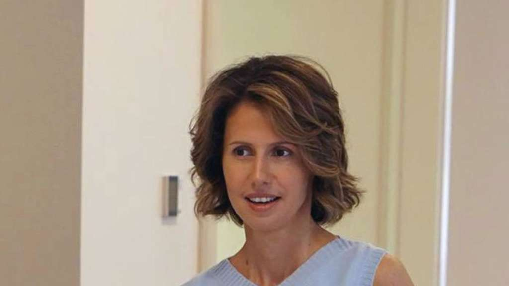 Syriens First Lady Asma al-Assad, Frau des syrischen Präsidenten. Foto: Facebook page of the Syrian Presidency