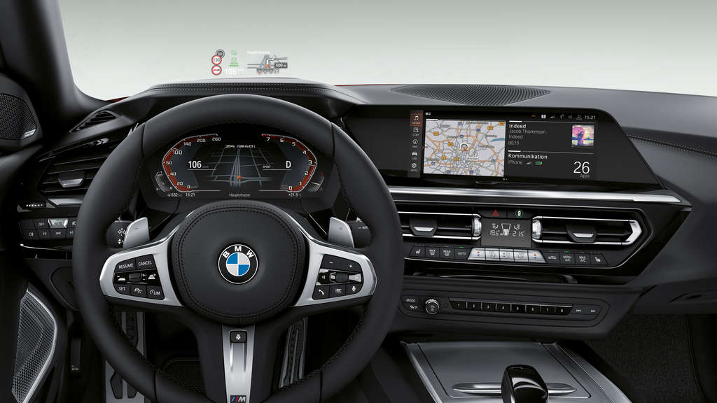 Schwarzes Leder und ein Head-up Display hat BMW dem Z4 M40i First Edition spendiert.