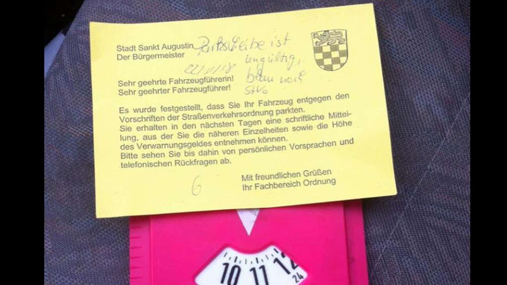 St Augustin Bei Bonn Parken Mit Folgen Autofahrerin Kassiert
