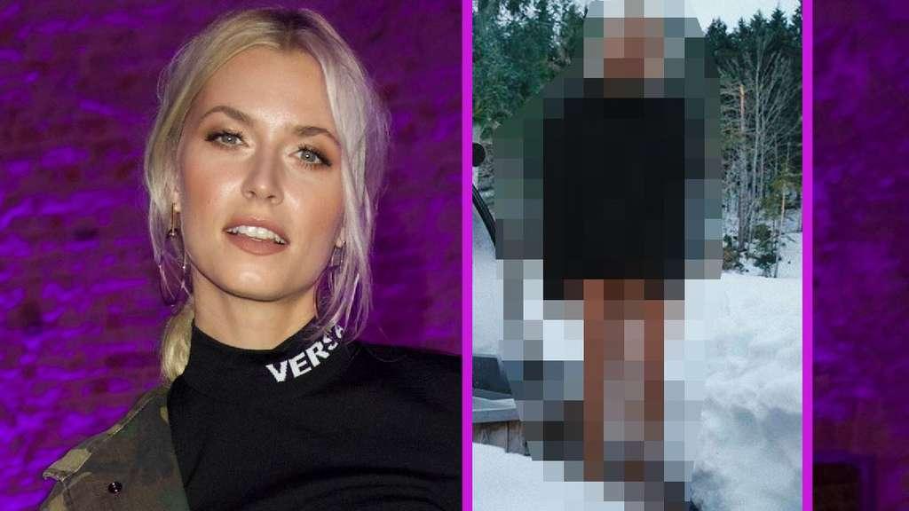 Lena Gercke: Model schockt unten ohne im Schnee - Geil