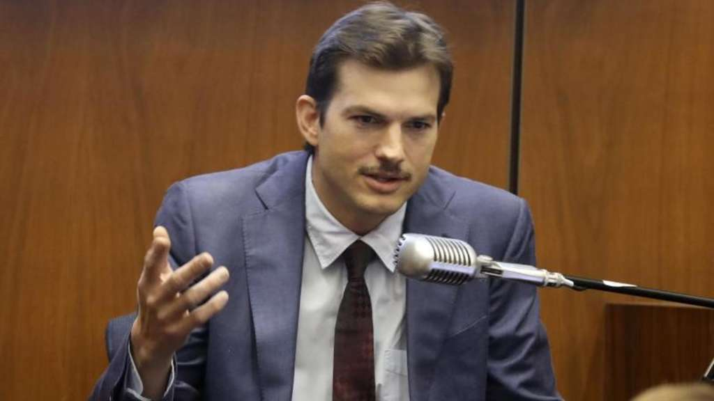 Der amerikanische Schauspieler Ashton Kutcher sagt im Mordprozess gegen den mutmaßlichen Serienmörder Michael Gargiulo aus. Foto: Frederick M. Brown/Pool Getty Images/AP