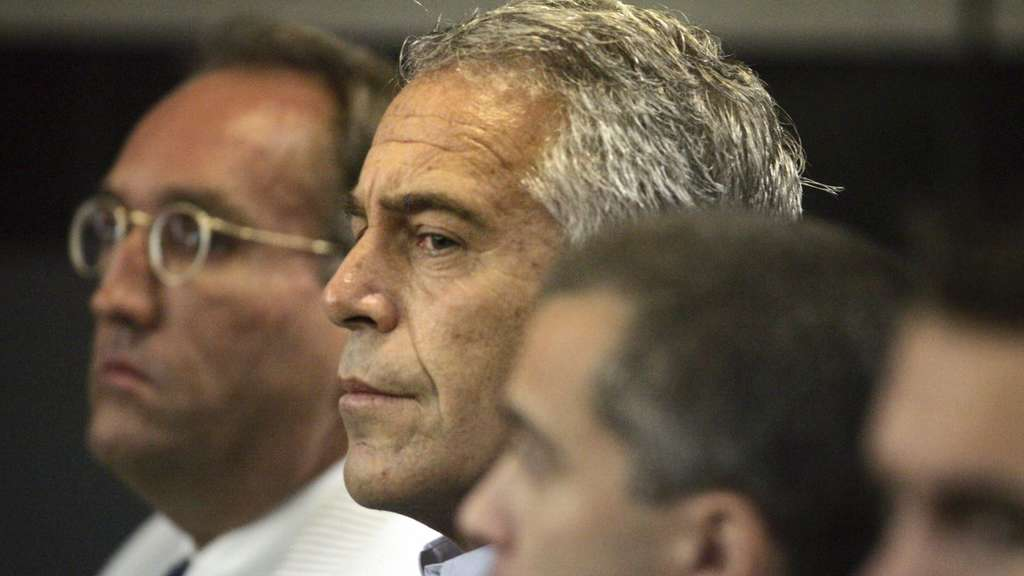 Jeffrey Epstein vor Gericht in West Palm Beach.