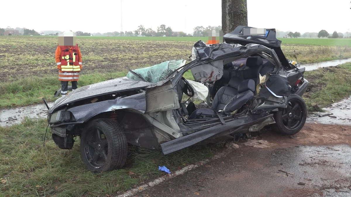 Diepholz: Unfall-Tod! Auto kommt von Fahrbahn ab - BMW-Insassen ohne Chance | Bremen - tz.de