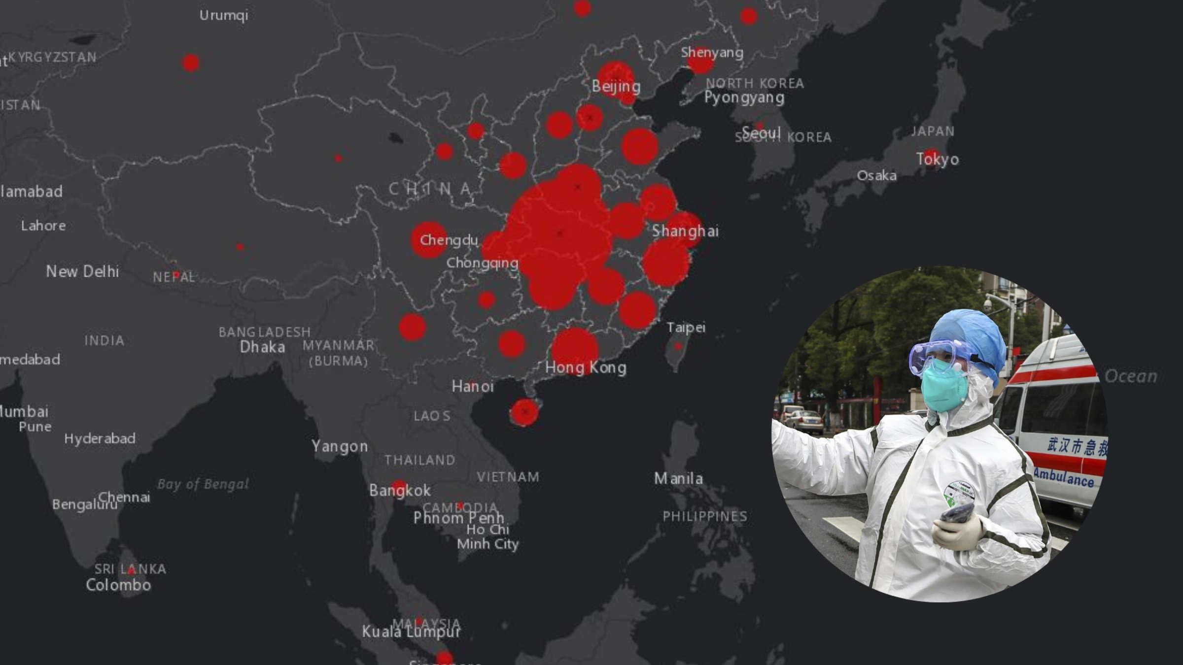 corona infizierte weltweit karte live