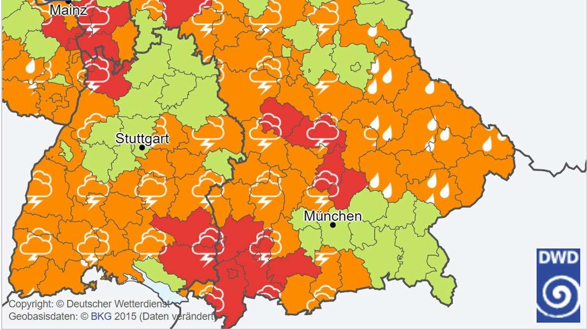 Unwetterwarnung München Aktuell