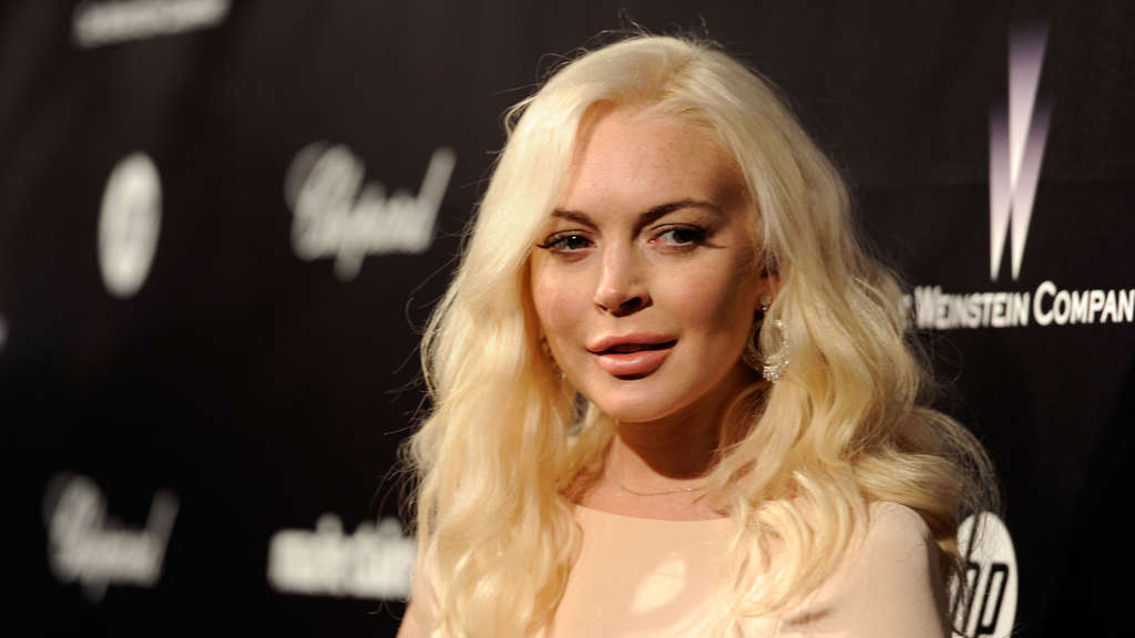 Lindsay Lohan auf der Golden Globes Aftershow-Party der Weinstein Company's 2012.