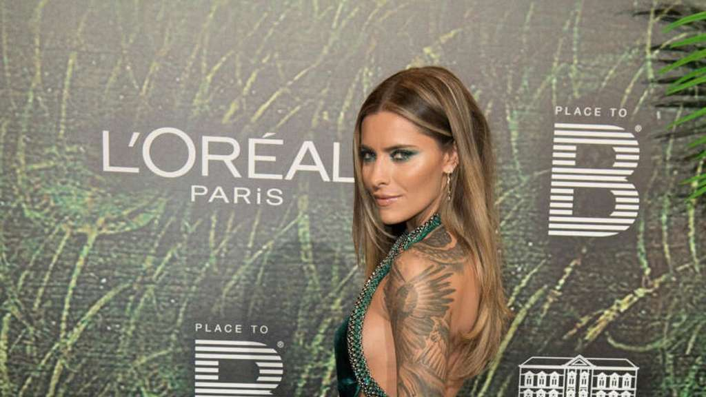 "Moderatorin Sophia Thomalla auf der ""Place to B""-Party in Berlin"