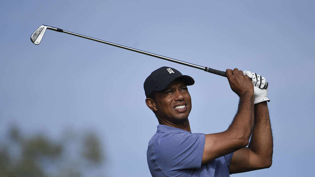 Tiger Woods aus den USA in Aktion.