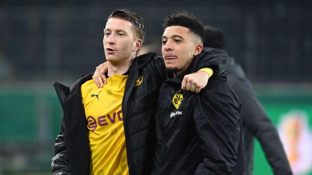 Marco Reus und Jadon Sancho stehen mit dem BVB im Pokal-Halbfinale.