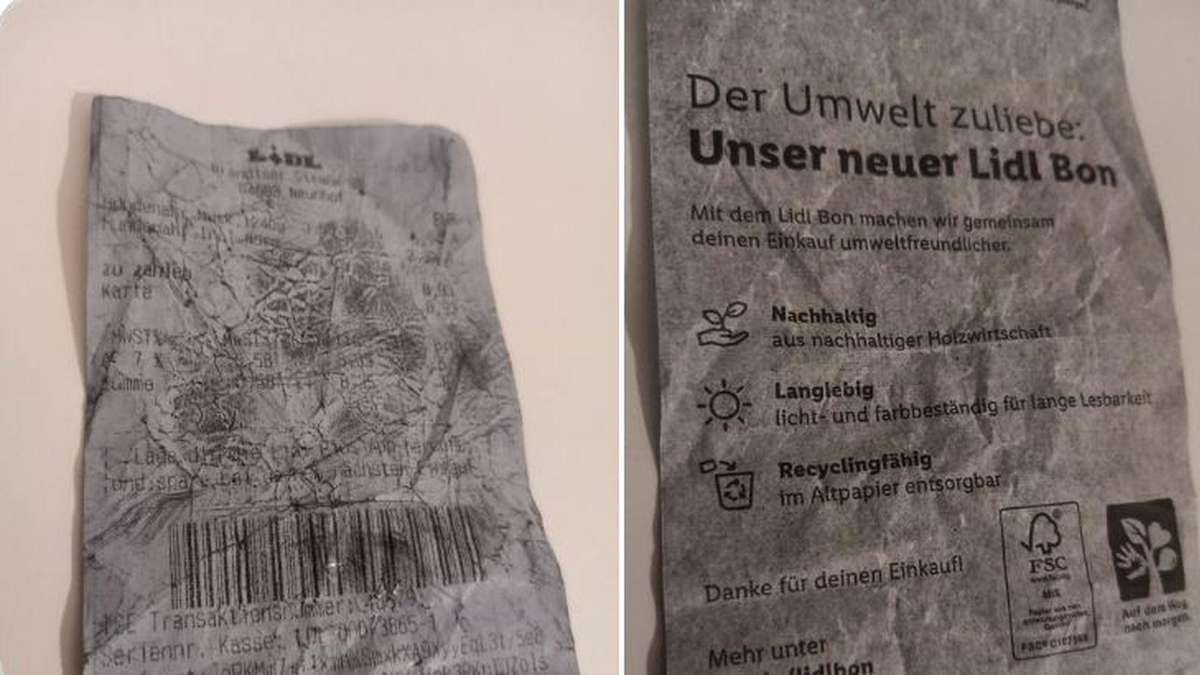 Lidl-Kassenzettel sorgt doppelt für Ärger: Rückseite schlägt Fass den Boden aus - tz.de