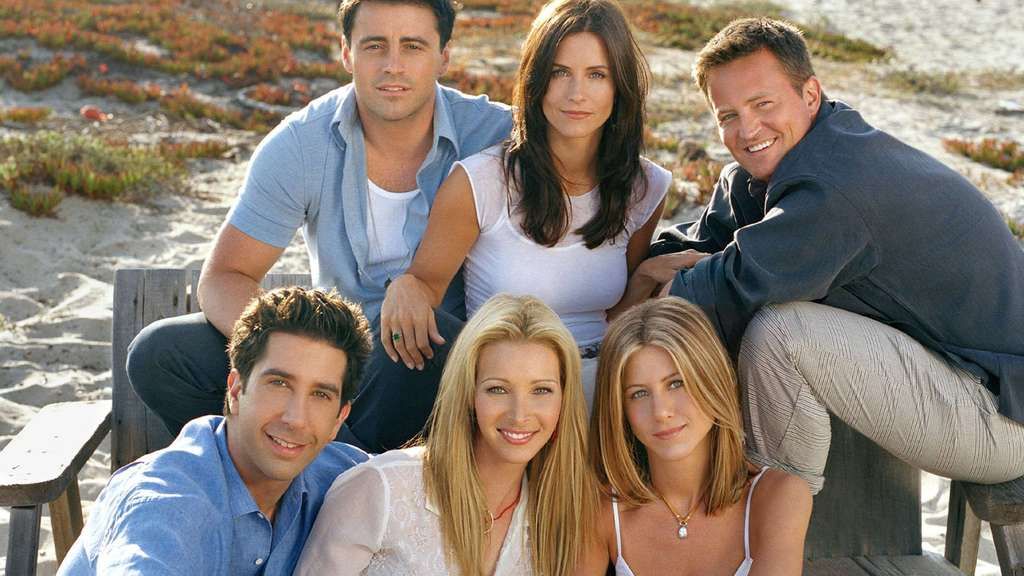 "Matt LeBlanc, Courteney Cox Arquette, Matthew Perry, Jennifer Aniston, Lisa Kudrow, David Schwimmer von ""Friends""."