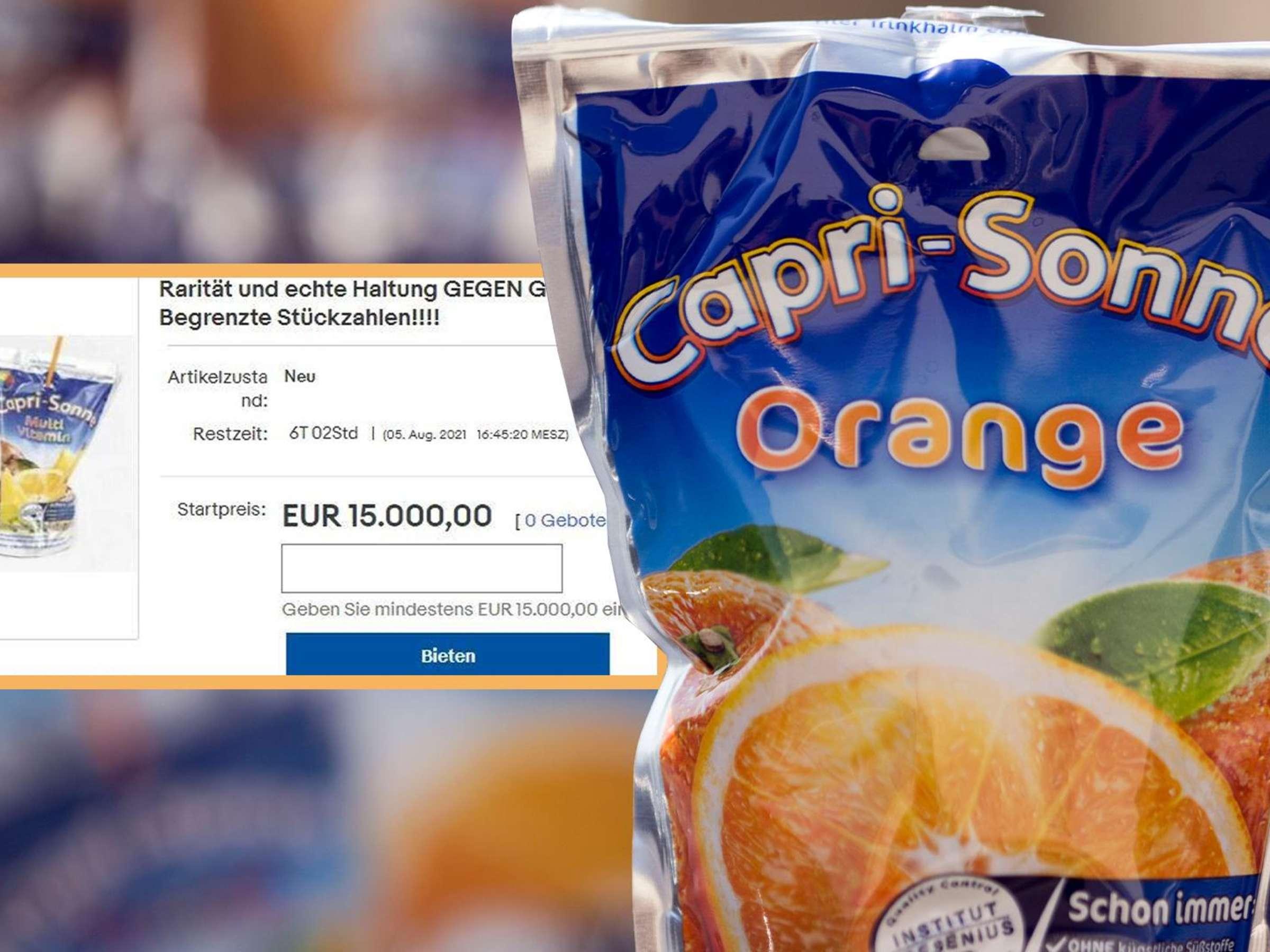 Capri Sonne bei eBay Kult Getränk zu irrem Preis angeboten   das ...